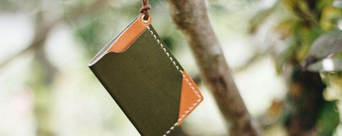 ハンドメイドの財布